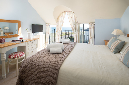 Master Bedroom, Newton Holiday Cottages, Northumberland